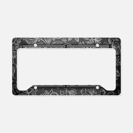 CO initials. Vintage, Floral License Plate Holder