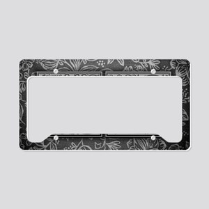 CY initials. Vintage, Floral License Plate Holder