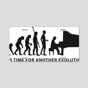evolution piano Aluminum License Plate