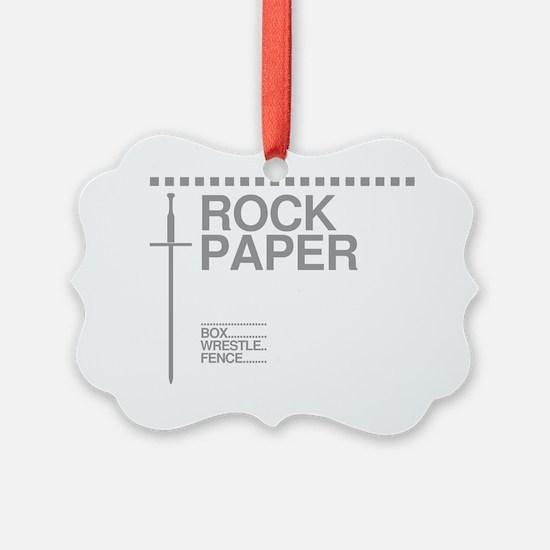 Rock Paper Sword Ornament