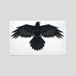 Beadwork Crow or Raven 3'x5' Area Rug