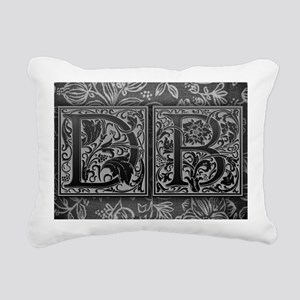 DB initials. Vintage, Fl Rectangular Canvas Pillow