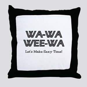 Wa-Wa-Wee-Wa Throw Pillow