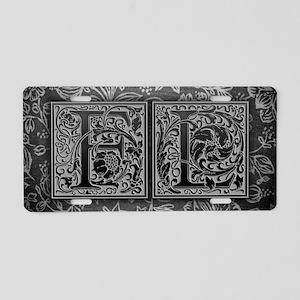 FL initials. Vintage, Flora Aluminum License Plate