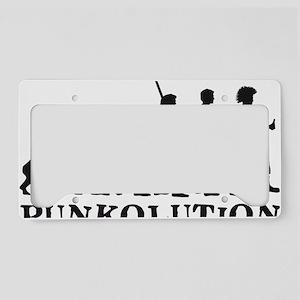 evolution punk rocker License Plate Holder