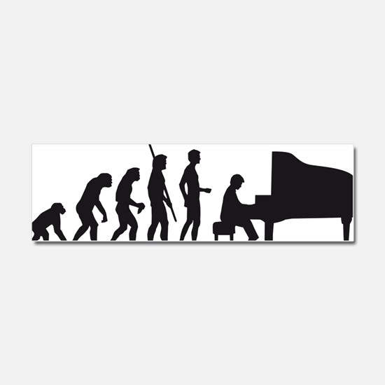 evolution piano player Car Magnet 10 x 3