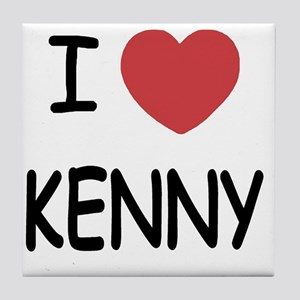 I heart KENNY Tile Coaster