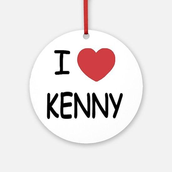 I heart KENNY Round Ornament