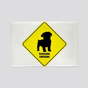 Schnoodle Crossing Rectangle Magnet