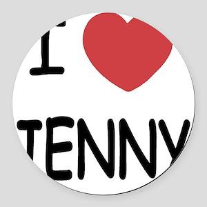 I heart JENNY Round Car Magnet