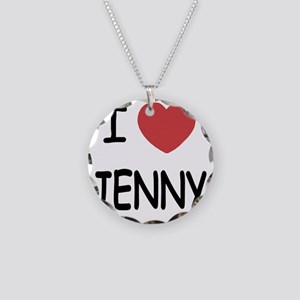 I heart JENNY Necklace Circle Charm