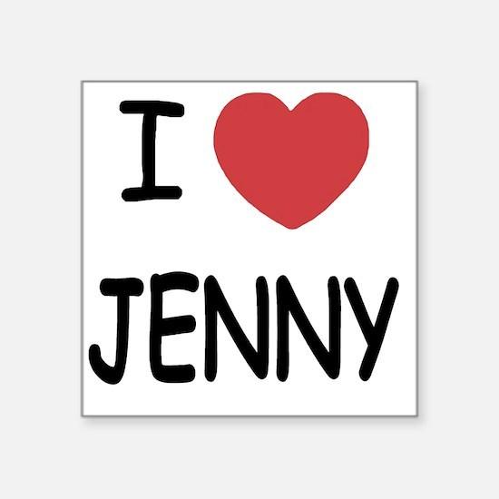 "I heart JENNY Square Sticker 3"" x 3"""