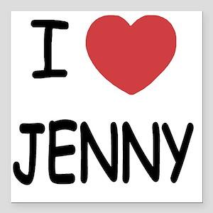 """I heart JENNY Square Car Magnet 3"""" x 3"""""""