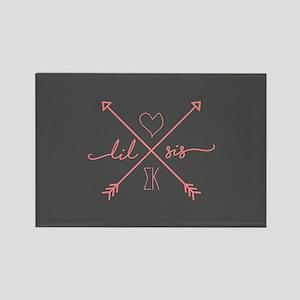 Sigma Kappa Lil Sis Arrows Rectangle Magnet