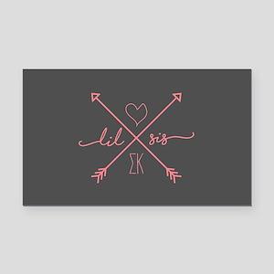Sigma Kappa Lil Sis Arrows Rectangle Car Magnet