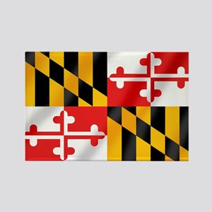 Flag of Maryland Rectangle Magnet