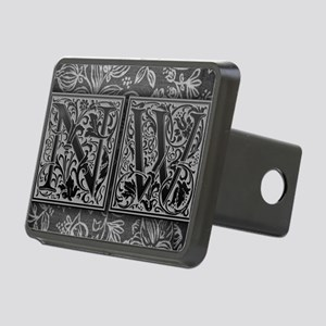 NW initials. Vintage, Flor Rectangular Hitch Cover