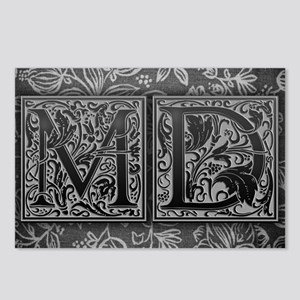 MD initials. Vintage, Flo Postcards (Package of 8)