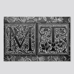 MT initials. Vintage, Flo Postcards (Package of 8)