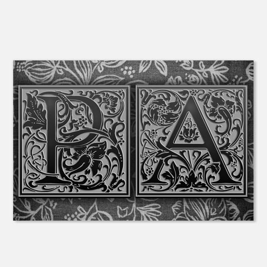 PA initials. Vintage, Flo Postcards (Package of 8)