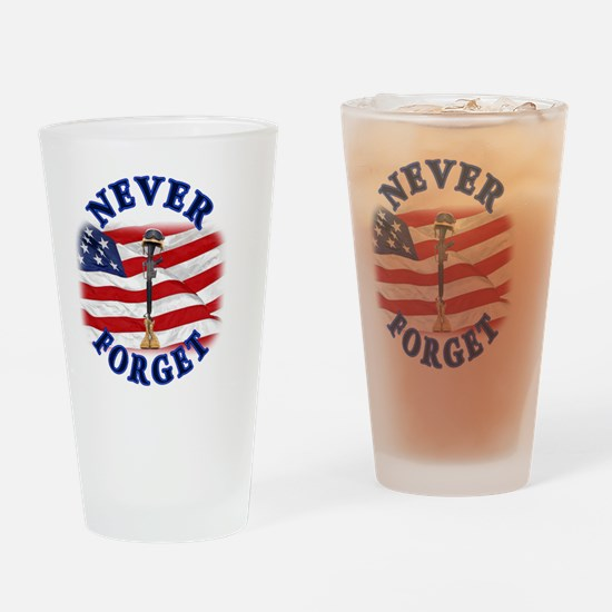 Never Forget Drinking Glass