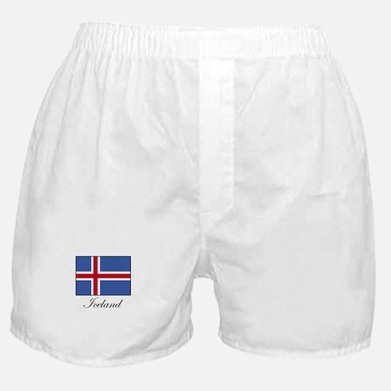 Iceland - Icelandic Flag Boxer Shorts