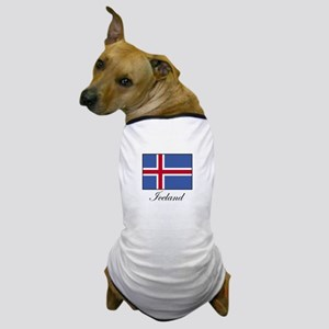 Iceland - Icelandic Flag Dog T-Shirt