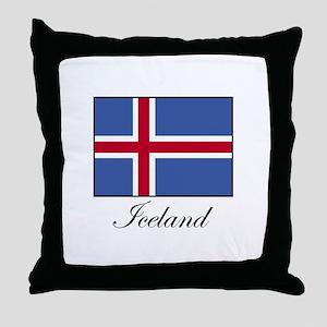 Iceland - Icelandic Flag Throw Pillow