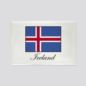 Iceland - Icelandic Flag Rectangle Magnet