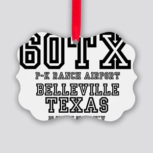 TEXAS - AIRPORT CODES - 60TX - P- Picture Ornament