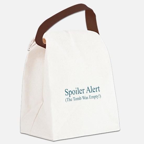 Spoiler Alert - Tomb Empty Canvas Lunch Bag