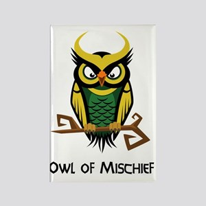 Owl of Mischief Rectangle Magnet