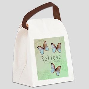 Believe Butterflies Canvas Lunch Bag