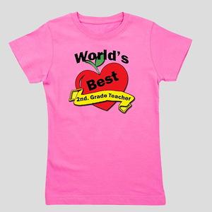 Worlds Best 2nd. Grade Teacher Girl's Tee