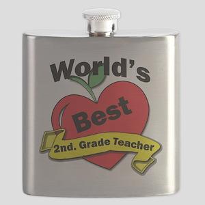 Worlds Best 2nd. Grade Teacher Flask
