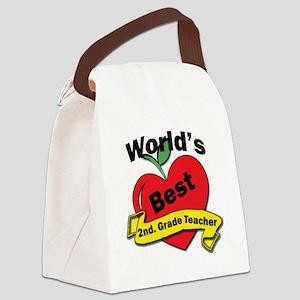 Worlds Best 2nd. Grade Teacher Canvas Lunch Bag