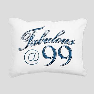 Fabulous at 99 Rectangular Canvas Pillow