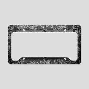 QS initials. Vintage, Floral License Plate Holder
