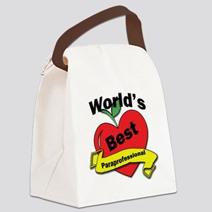 Worlds Best Paraprofessional Canvas Lunch Bag