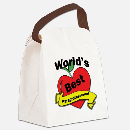 Worlds Best Paraprofessional Canvas Lunch Bag