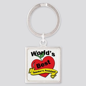Worlds Best Teachers Assistant Square Keychain