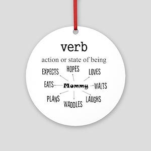 Verb Maternity Round Ornament