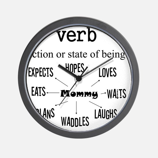Verb Maternity Wall Clock