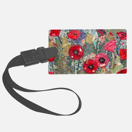 Poppy Fields Large Luggage Tag