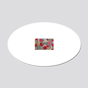 Poppy Fields 20x12 Oval Wall Decal