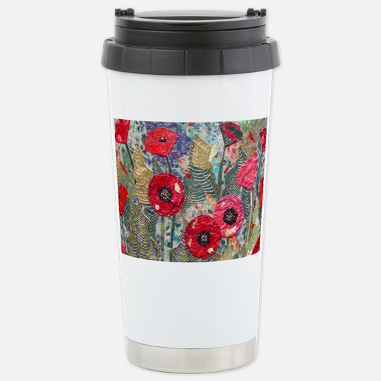 Poppy Fields Stainless Steel Travel Mug