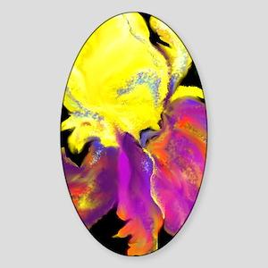 Hot Iris Sticker (Oval)