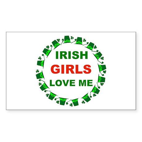 IRISH GIRLS Rectangle Sticker