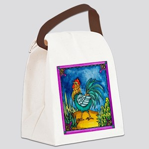 Rooster 2 Canvas Lunch Bag