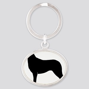 Smooth Collie Oval Keychain